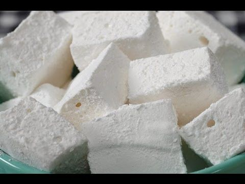 Homemade Marshmallow: all you need is gelatin, water, sugar, corn syrup, and vanilla extract    Read more: http://www.joyofbaking.com/candy/HomemadeMarshmallows.html#ixzz1nDTDWw2x