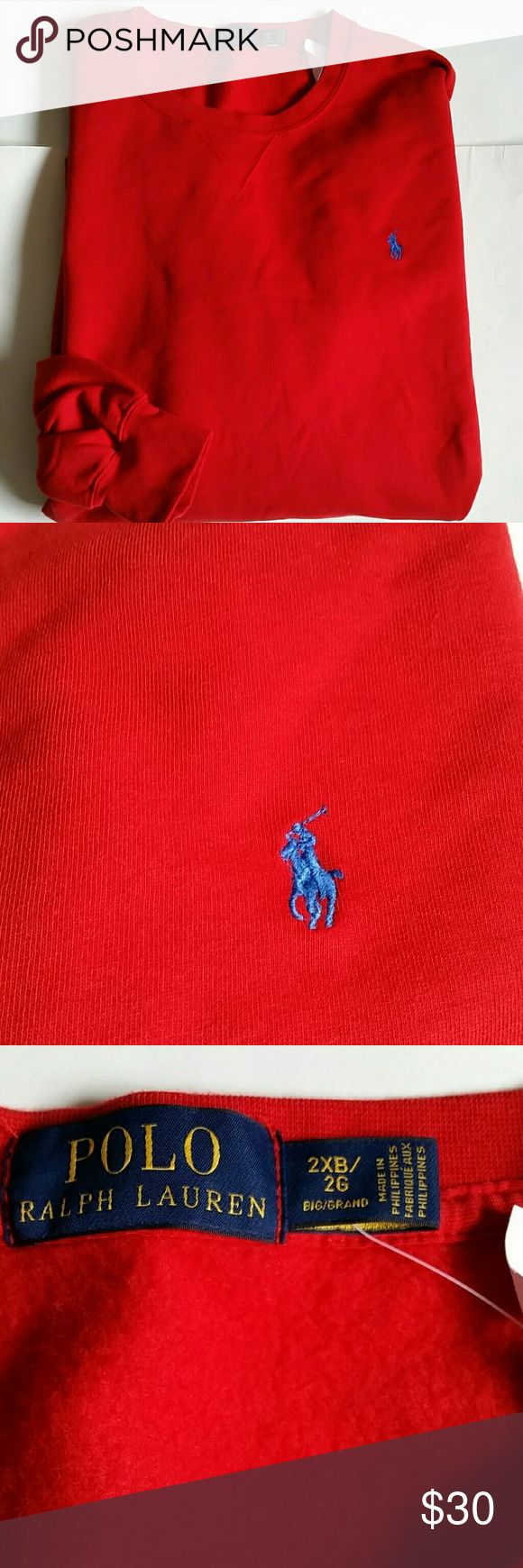Polo Ralph Lauren sweat shirt sweater big & tall New with tags, classic fit  All sizes are big and tall (2XB,  2XLT,  3xb, 3XLT ) Please let me know what size you want  before to buy Polo by Ralph Lauren Shirts Sweatshirts & Hoodies
