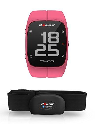 Polar M400 Montre Cardio/GPS Multisport avec Ceinture Cardiaque Rose: Ecran haute définition 128 x 128 Tracking de l'activité 24/7, pas,…