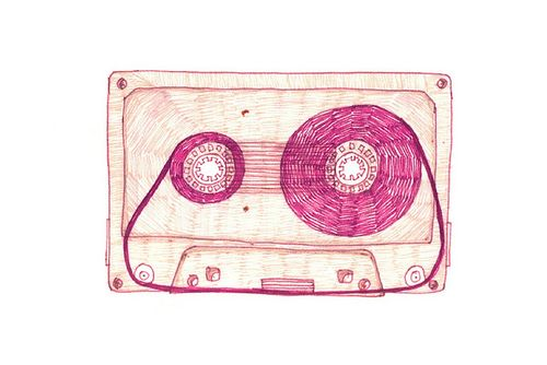 #music #illustration #cassette recorder