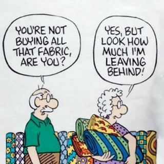 Image result for fabric shopping meme