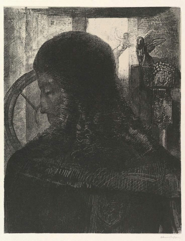 Odilon Redon - The Old Knight. 1896