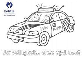 Kleurplaat Politiewagen Verkeer Voertuigen Pinterest