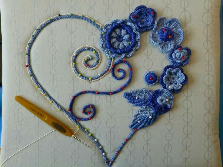 Irish crochet - I would like to see this in pink