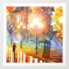 Old Tardis Art Print