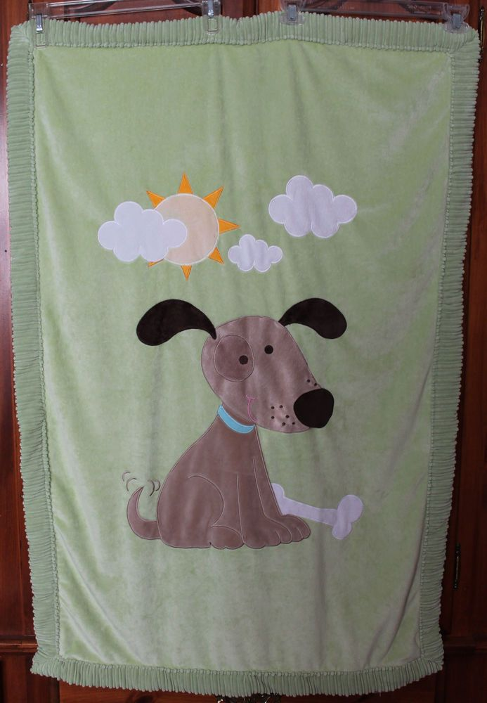 Little Miracles Baby Blanket Costco Green Puppy Dog Bone