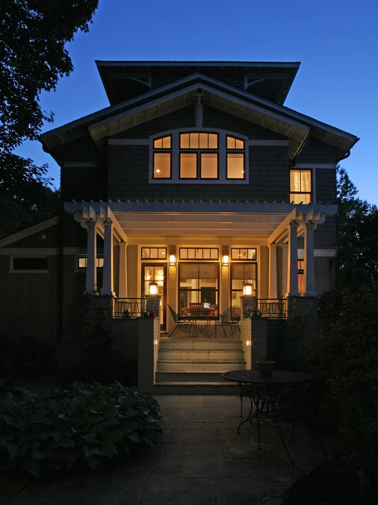 Nice curved window.   Craftsman Exterior Design, Pictures, Remodel, Decor and Ideas - page 27