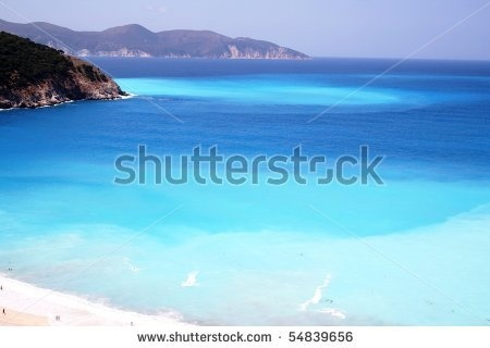 Adriano Castelli - Myrtos Beach, Beautiful Sea Foto Stock: 54839656 : Shutterstock