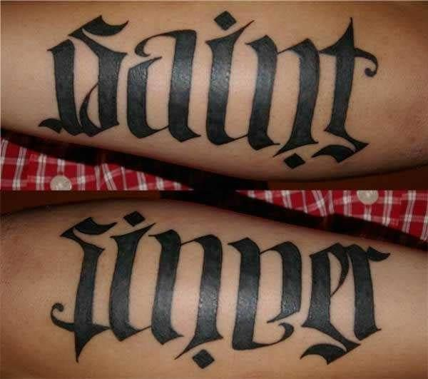18 Awesome Ambigram Tattoos That'll Make You Look Twice