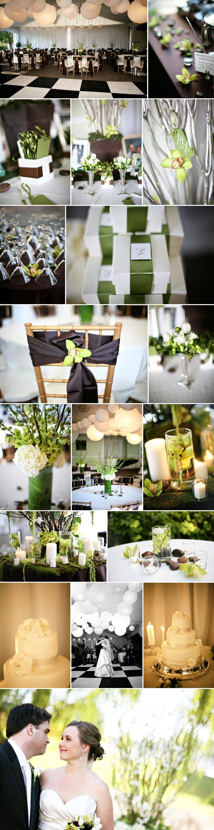 PatriciaJay part II Melissa Schollaert park tavern atlanta wedding green brown chair sashes orchids moss balloon ceiling