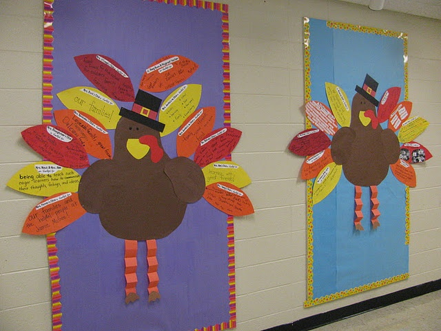November Classroom Decor : Best images about decorate your classroom door on