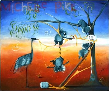 A Sticky Situation - Michelle Pike Australian Artist