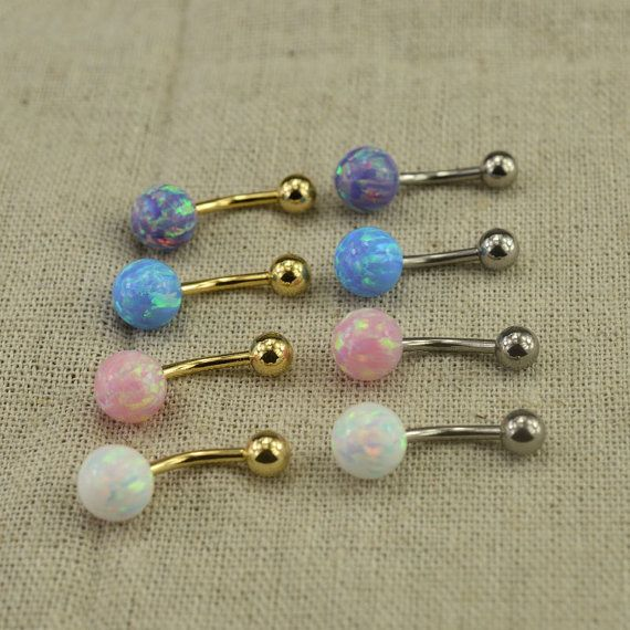 Sale-opal belly button ring fabulous belly by vickybodyjewelry