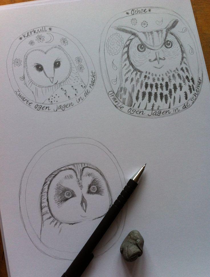 Drawing my lovely birds! By Ati van Twillert...