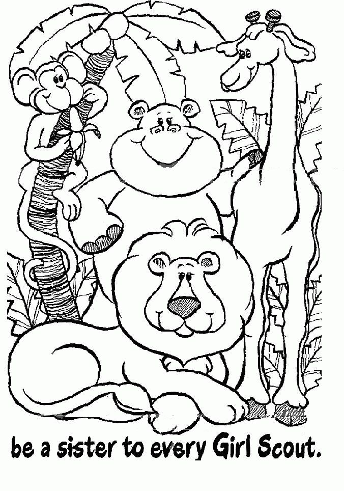 daisy scout coloring pages photo 4 - Girl Scout Brownie Coloring Pages