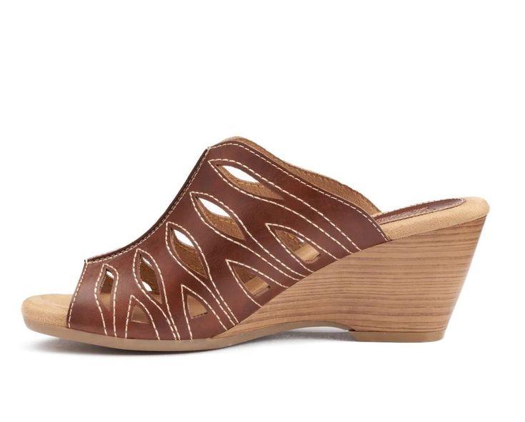 Womens SONOMA Good for Life Rakel Block Heel Sandals Shoes Cognac Size 9.5 M