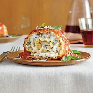 Tomato-Basil Lasagna Rolls | MyRecipes.com
