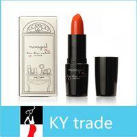 Al por mayor 12 colores Resistente al agua labio labio lipstick maquillaje brillo lipgloss terciopelo mate palo de color rojo cereza vitalidad estrella