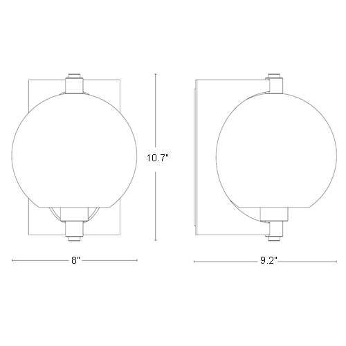 Pluto Outdoor Wall Sconce | Black