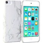 iPod touch 6 Case, GMYLE Snap Cover Glossy for iPod touch 6th Generation - White Marble Pattern Slim Hard Back Case