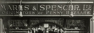 M and S - Despite having a market stall in Leeds, Marks and Spencer opened its first store on Stretford Road in Hulme. 1894