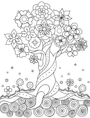17 best images about adult colouring trees leaves Easy coloring books for adults