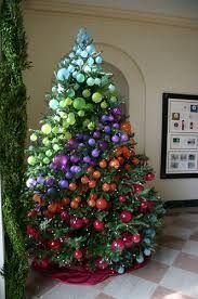 Resultado de imagen de how to make a christmas tree out of ornaments