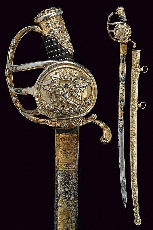 A presentation sabre, Mexico, 19th century.