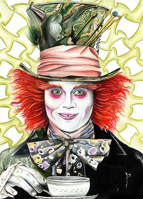 The Mad Hatter in 2020 Mad hatter drawing, Alice