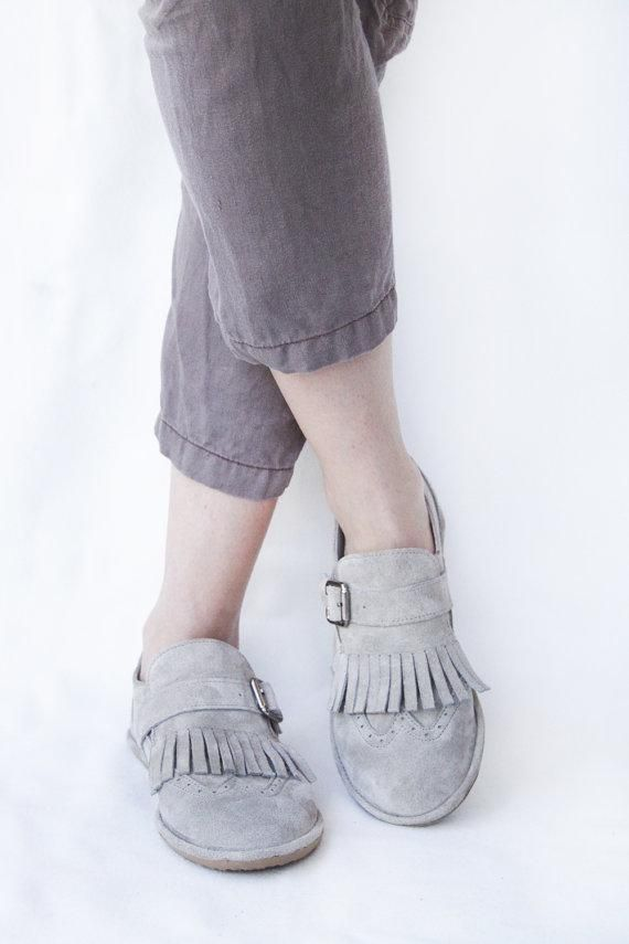 Head over heels for these fringed flats. #etsy