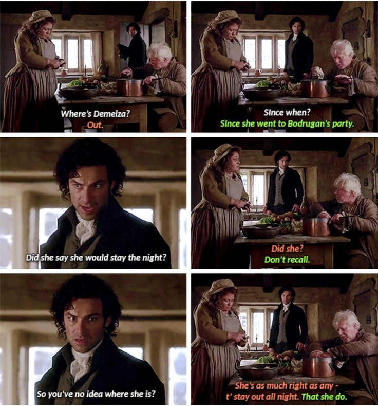"""""""You've no idea where she is?"""" - Jud and Prudie dragging Ross #Poldark"""