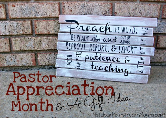 Pastor Appreciation Month & A Gift Idea #diy #gift #pastorappreciation #plaque