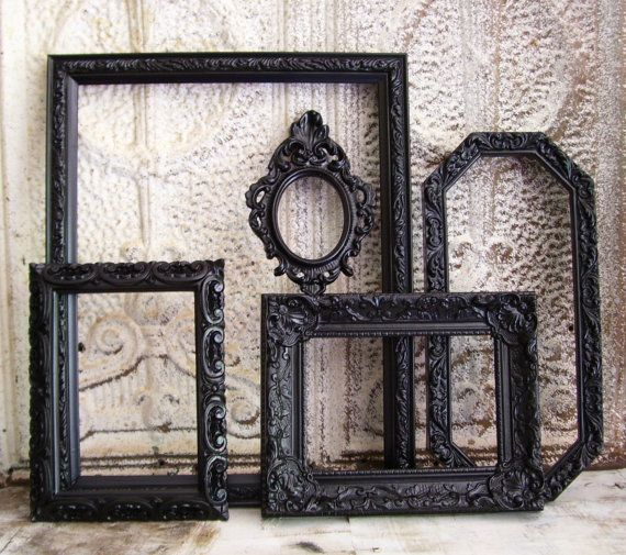 Ornate picture frames French Chic Gothic Baroque Cottage Chic Wedding decor Home decor collection Halloween