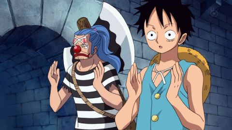 Luffy and Buggy XD those two running around Impel Down is one of my favorite things