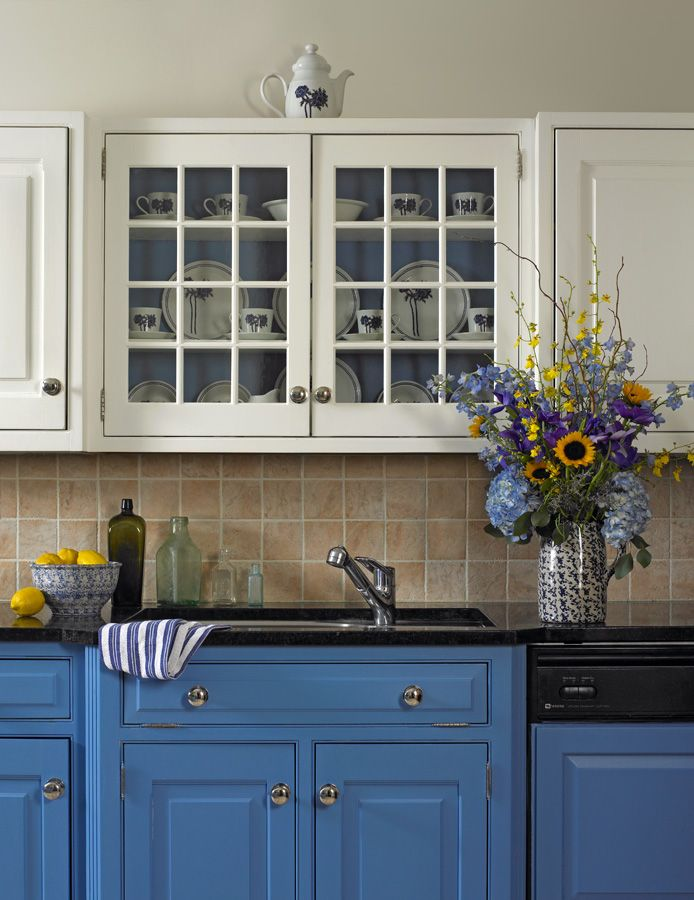 Country kitchen in blue and white kitchen pinterest - Pinterest country kitchen ...