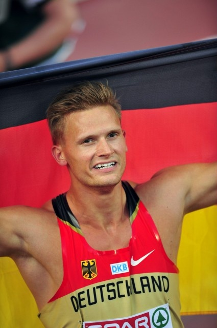 Day 2: Germany's Pascal Behrenbruch won men's decathlon gold at the European Athletics Championships Helsinki 2012 in Helsinki on Thursday, 28th June, 2012.