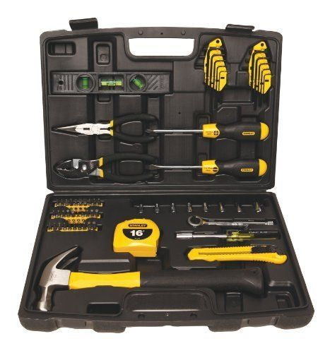 Tool Kit Repair Case Home 65 Piece Stanley Tools Set Mechanics Shop DIY Projects #Stanley
