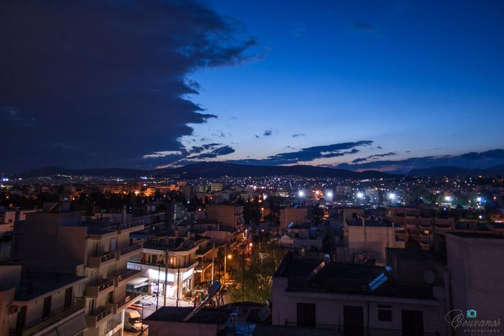 Athens (Greece) by night (this vie is grom my home).