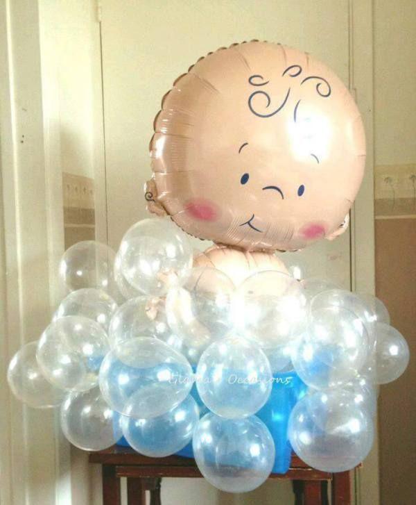 decoración con globos para baby shower2