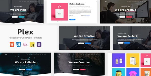 Plex Responsive One Page Template Page Template Portfolio Templates First Page