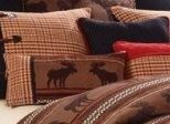 Bayfield Oblong Houndstooth and Moose Pillow