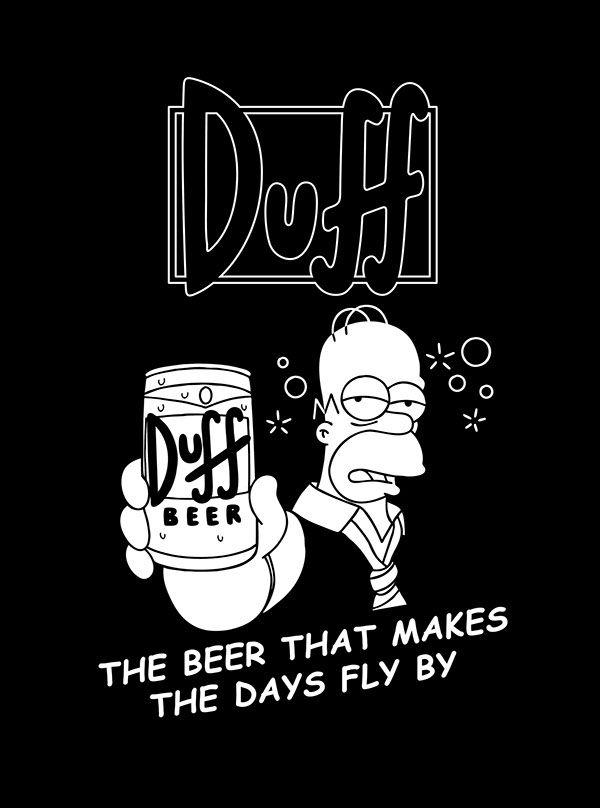 this is my submission for threadless.com's the simpsons design challenge.http://www.threadless.com/thesimpsons/duff-beer-ad/