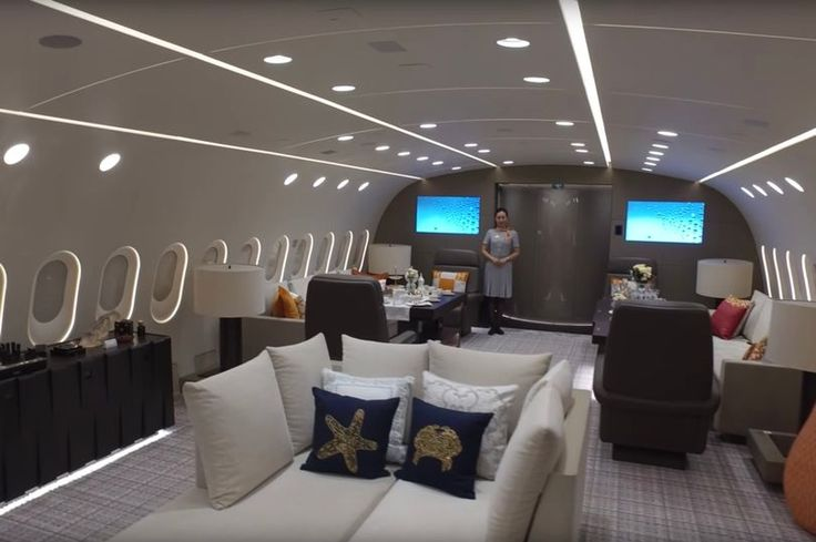 Inside the world's most luxurious private jet complete with huge en-suite bedroom, hidden 42in TV and shower