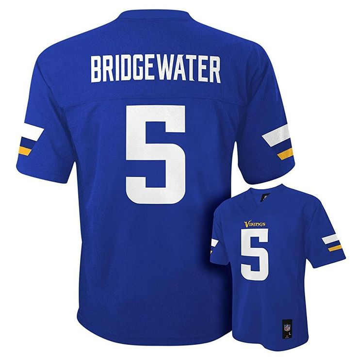 Minnesota Vikings Teddy Bridgewater NFL Infants Purple Home Jersey (Infants 18 Months). Officially Licensed by the NFL. Decorated in Team Colors & Logo. Screen Printer Player Name & Numbers. Brand New with Tags.