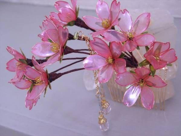 Graduation cerimonia di cerimonia di ornamenti per i capelli rosa ciliegia pettine _ image 2