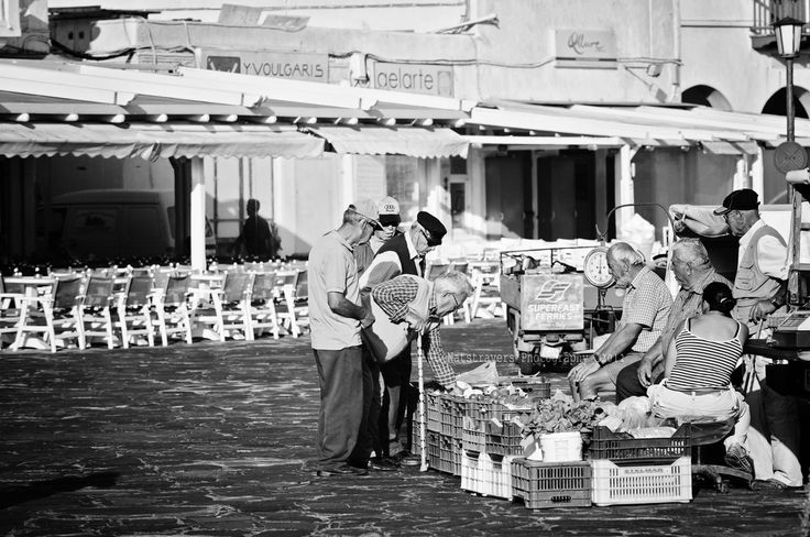 Morning market at Mykonos by Nathalie Stravers
