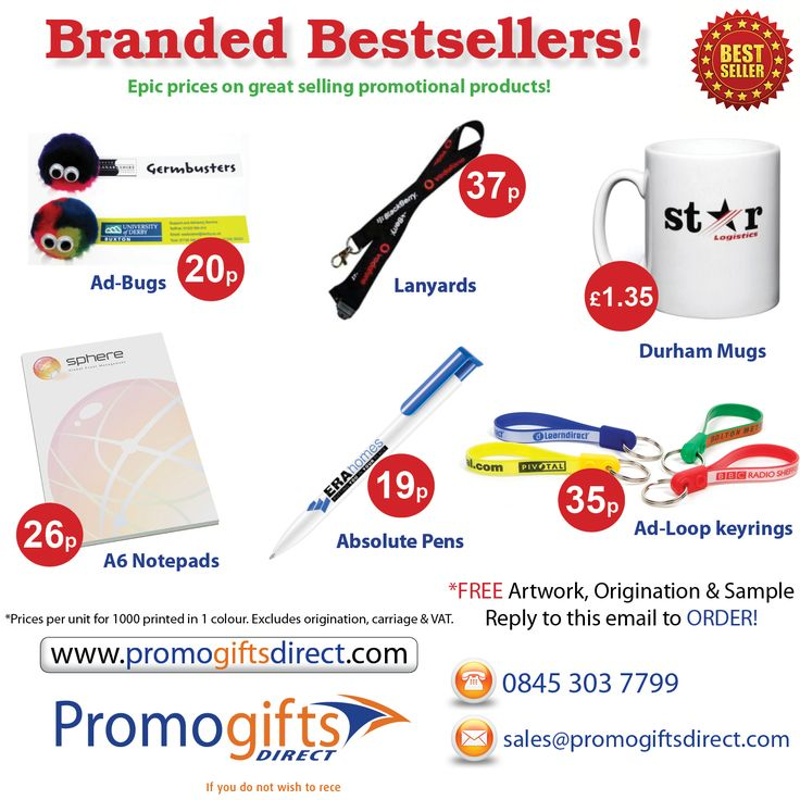 Bestselling Promotional Products at fantastic prices from Promo Gifts Direct - order: sales@promogiftsdirect.com - http://www.promogiftsdirect.com