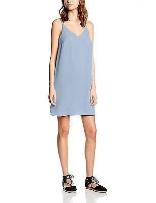 16, Blue (Light blue), New Look Women's Plain Cami Slip Sleeveless Dress NEW