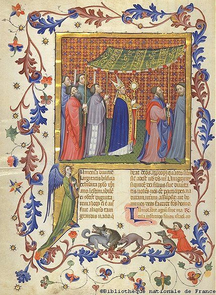 Image Credit: Breviary.Net - Corpus Christi This feast is celebrated in the Latin Church on the Thursday after Trinity Sunday to solemnly commemorate the institution of the Holy Eucharist.   For centuries after the celebration was extended to the universal Church, the feast was also celebrated with a eucharistic procession, in which the Sacred Host was carried throughout the town, accompanied by hymns and litanies. The faithful would venerate the Body of Christ as the procession passed by…