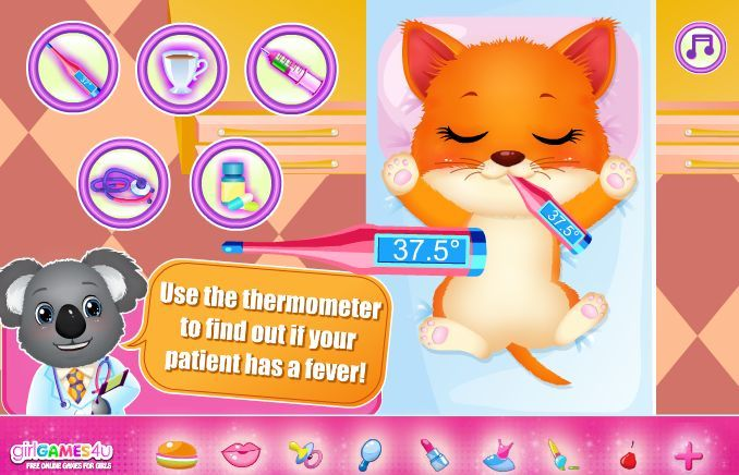 #Gameoftheday: http://www.girlgames4u.com/my-pet-doctor-game.html ✿ ✿ ✿ Hello #darlings! Are you ready to take care of one of the fluffiest pets? This cutie needs you to be the best doctor and help him get well! ***